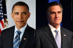 Image: Barack Obama vs Mitt Romney