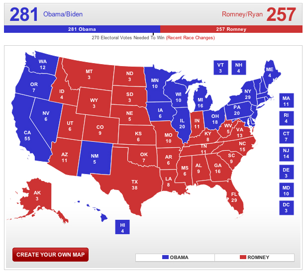 Rcp Electoral Map  My Blog