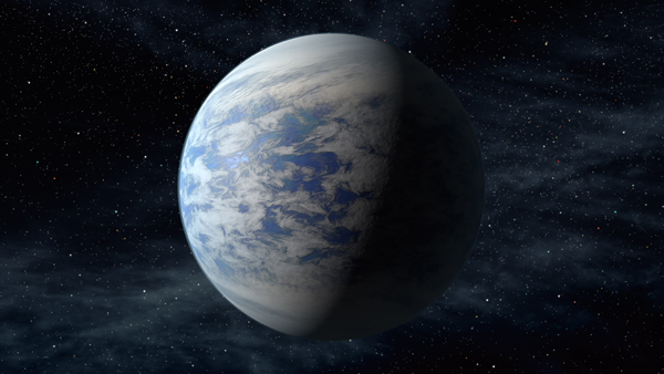 Image: Artist's rendition of Kepler 69c, habitable planet