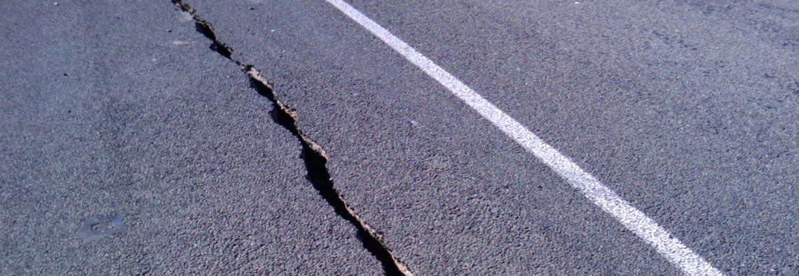 Image: Earthquake Road Damage