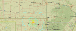 Map: Pawnee, Oklahoma Earthquake
